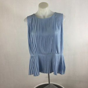 Calvin Klein Top Pleated Front Sleeveless Blouse